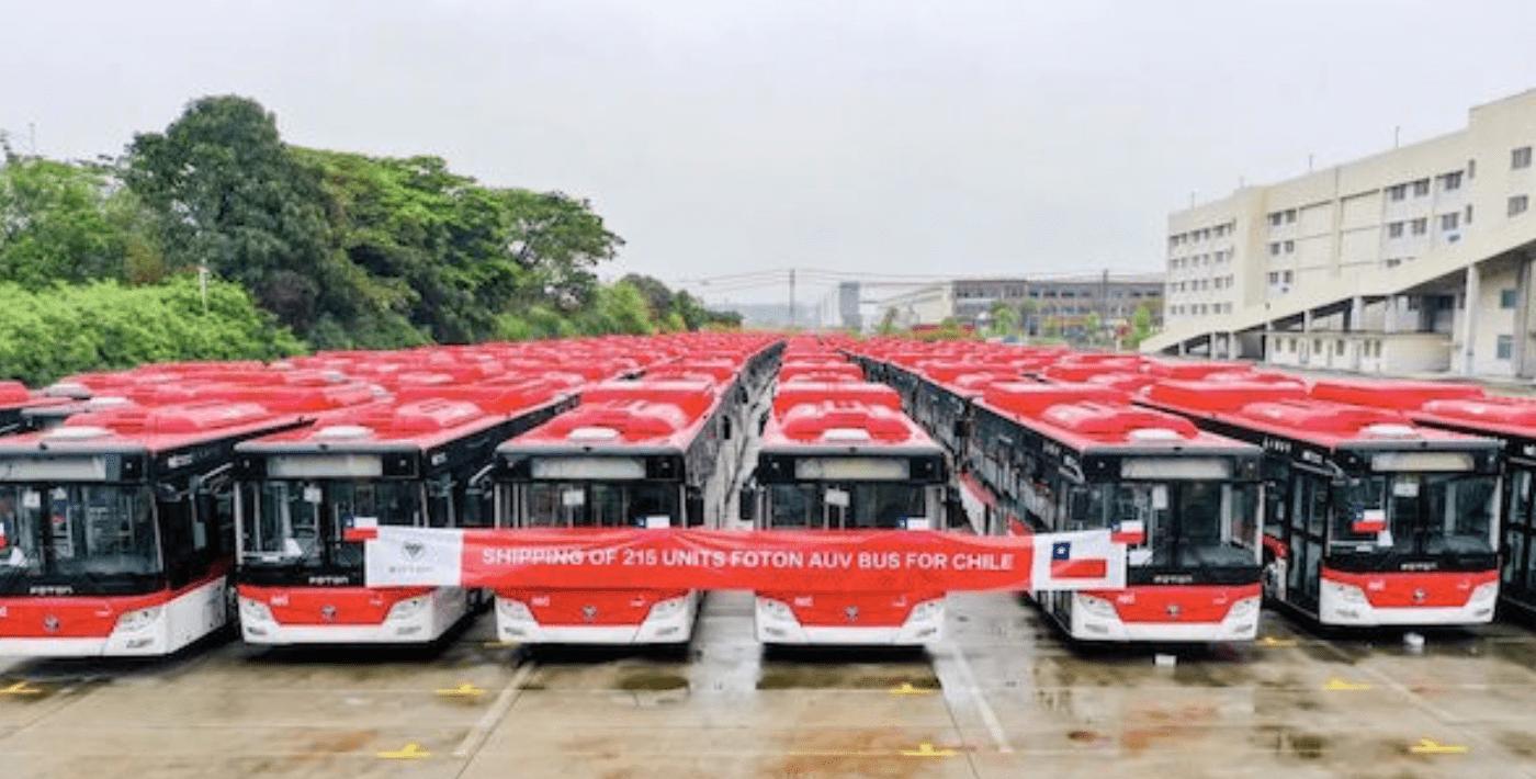 Foton AUV entregará 215 unidades de Autobuses Urbanos Eléctricos a Chile